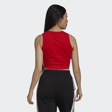 Camiseta sin mangas Adicolor Classics Cropped Rojo Mujer Originals