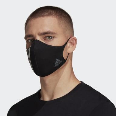 Fitness Og Træning Flerfarvet 3-Stripes ansigtsklæde – ikke til medicinsk brug