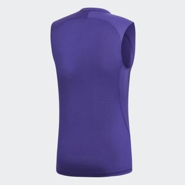 Men's Training Purple Alphaskin Sport Tee