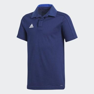 Playera Polo CON18 CO (UNISEX) Azul Niño Fútbol