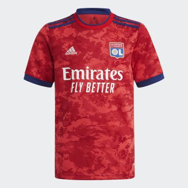 Camiseta segunda equipación Olympique de Lyon 21/22 Rojo Niño Fútbol
