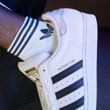 Originals สีขาว ถุงเท้าหุ้มข้อ Trefoil