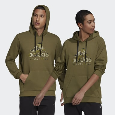 Volleyball Green Volleyball Graphic Camo Hoodie
