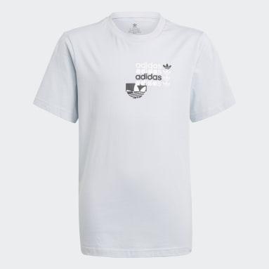 T-shirt Graphic Bleu Adolescents Originals