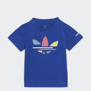 Děti Originals modrá Tričko Adicolor