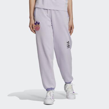 Women Originals Purple Logo Play Cuff Pants