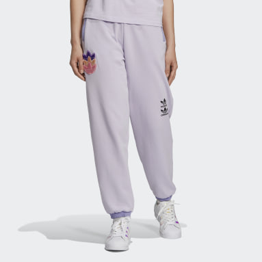 Pantalon Logo Play Cuff Violet Femmes Originals