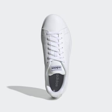 Men Sport Inspired White Advantage Base Shoes