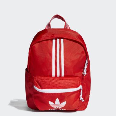 Originals สีแดง กระเป๋าเป้ทรงคลาสสิก Adicolor ขนาดเล็ก