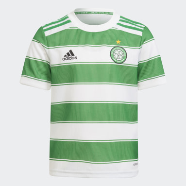 Kids Football White Celtic FC 21/22 Home Mini Kit