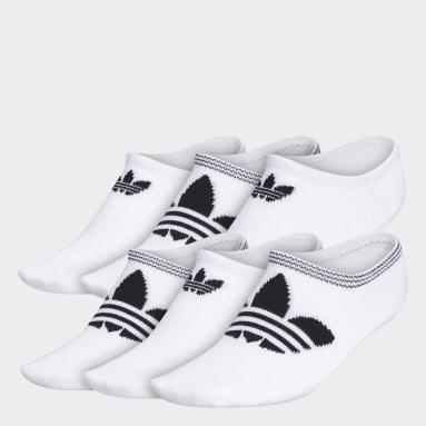 Women's Originals White Trefoil Superlite Super-No-Show Socks 6 Pairs