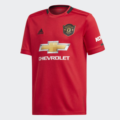 Youth Football Red Manchester United Home Jersey