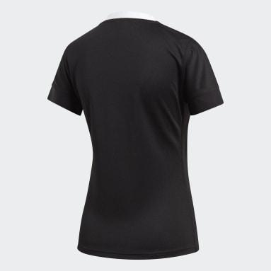 Camiseta Uniforme Titular All Blacks Negro Mujer Rugby