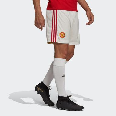 Men Football White Manchester United 21/22 Home Shorts