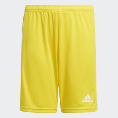 Pantalón corto Squadra 21 Amarillo Niño Fútbol