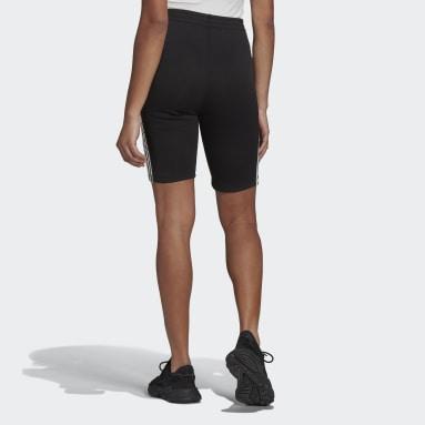 ผู้หญิง Originals สีดำ กางเกงขาสั้นเอวสูงแต่งเชือก