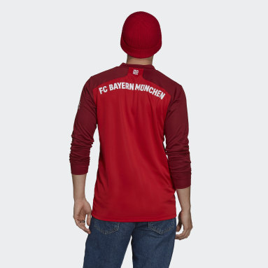 Maillot Domicile FC Bayern 21/22 Long Sleeve Rouge Hommes Football