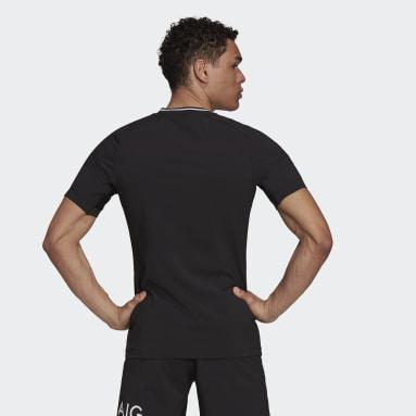 Camiseta Local Performance All Blacks Réplica Negro Hombre Rugby
