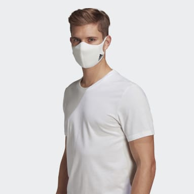 Sportswear White Face Covers 3-Pack M/L