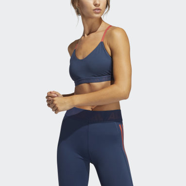 Top Deportivo All Me Branded Azul Mujer Training