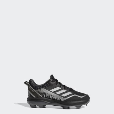 Children Baseball Black Icon 7 Dripped-Out TPU Cleats