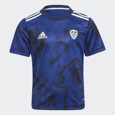 Divisa Mini Away 21/22 Leeds United FC Blu Bambini Calcio
