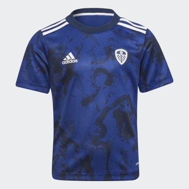 Kinder Fußball Leeds United FC 21/22 Mini-Auswärtsausrüstung Blau