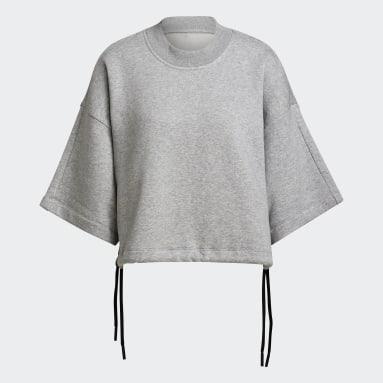 Women Sportswear Grey adidas Sportswear Studio Lounge Fleece Sweatshirt
