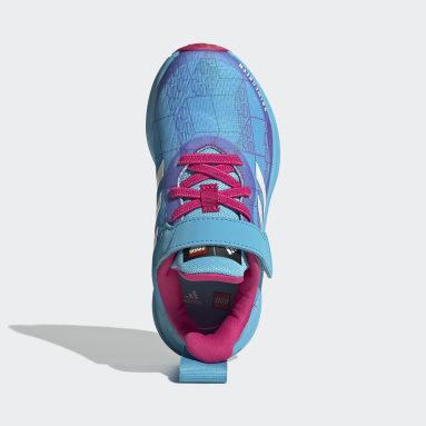 Barn Löpning Turkos adidas FortaRun x LEGO® Elastic Lace Top Strap Shoes