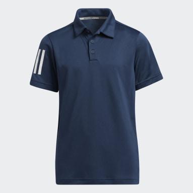 Boys Golf Blå 3-Stripes polotrøje