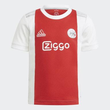 Kids 4-8 Years Football White Ajax Amsterdam 21/22 Home Mini Kit