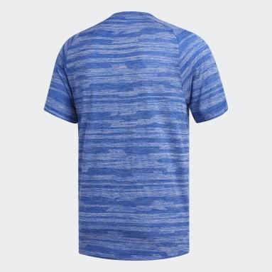 Camiseta FreeLift Engineered Jaspeada Azul Hombre Training