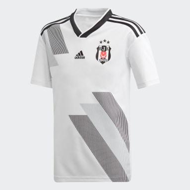 Camisola Principal do Beşiktaş JK Branco Rapazes Futebol