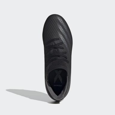 Calzado de Fútbol X Ghosted.3 Terreno Firme Negro Niño Fútbol