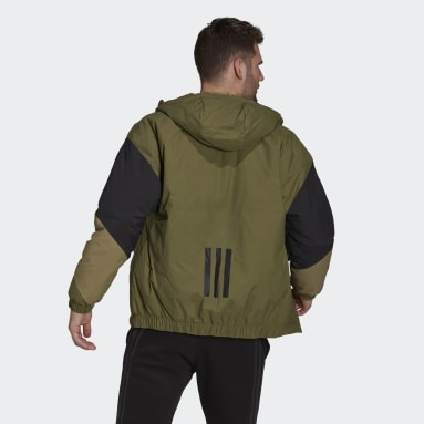 Men City Outdoor Green Back to Sport Insulated Hooded Jacket