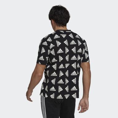 Men Sportswear Black Essentials Loose Giant Logo T-Shirt (Gender Neutral)