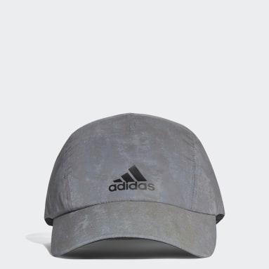 Running Silver Run Reflective Cap