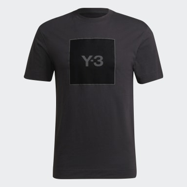 Y-3 Black Y-3 Square Logo Short Sleeve Tee