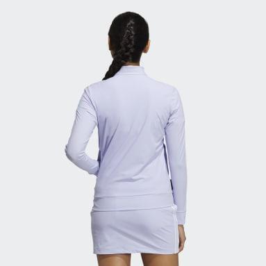 Women Golf Purple Primeblue Full-Zip 3-Stripes Track Jacket