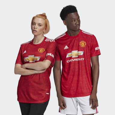 Men Football Red Manchester United 20/21 Home Authentic Jersey