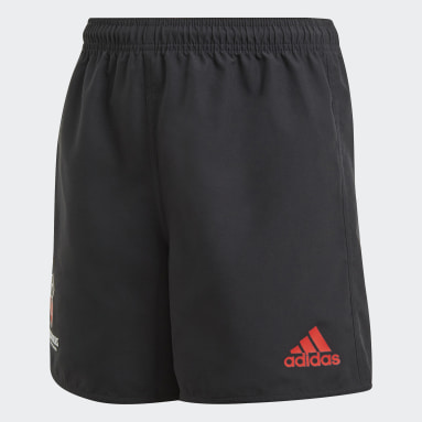 Boys Rugby Black Crusaders Rugby Home Replica Shorts