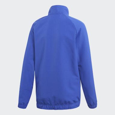 Børn Fitness Og Træning Blå Core 18 Presentation jakke