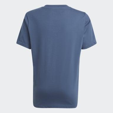 T-shirt Graphic Print Blu Ragazzo Originals