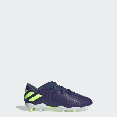 Calzado de Fútbol Nemeziz Messi 19.3 Terreno Firme (UNISEX) Azul Niño Fútbol