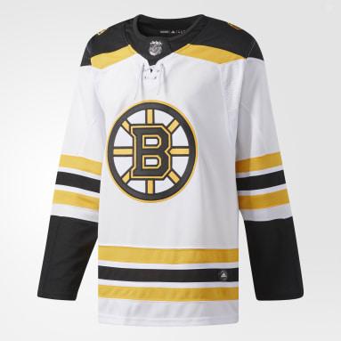 Maillot Bruins Extérieur Authentique Pro blanc Hommes Hockey