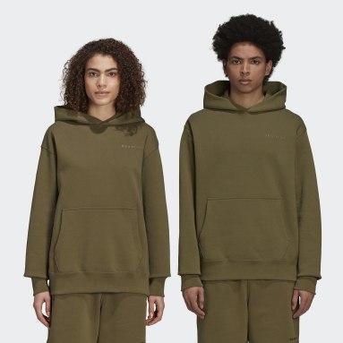 Sudadera con capucha Pharrell Williams Basics (Género neutro) Verde Originals