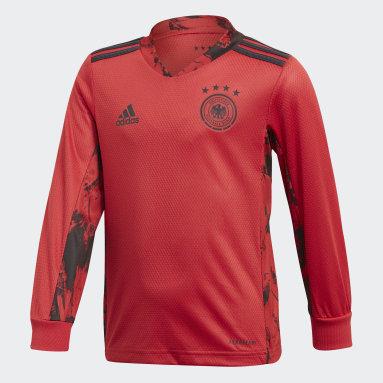 Boys Football Red Germany Home Goalkeeper Mini Kit
