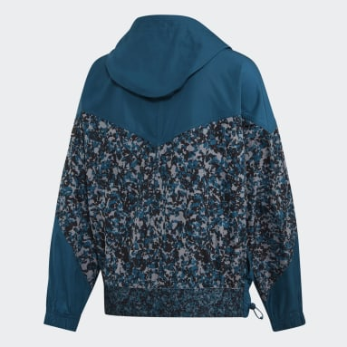 Women adidas by Stella McCartney Blue Athletics Light Pull-On Jacket