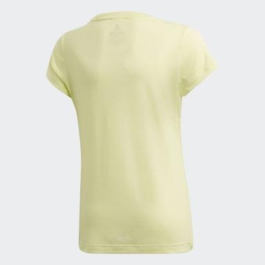 T-shirt Prime Jaune Filles Fitness Et Training