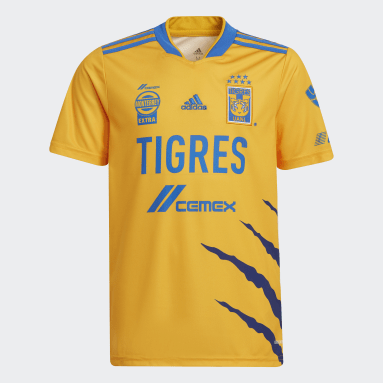 Jersey Local Tigres UANL 21/22 Amarillo Niño Fútbol